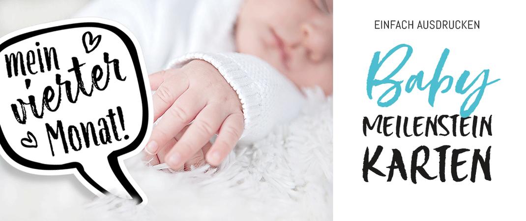 Baby-Meilensteinkarten zum Ausdrucken. Ein tolles Geschenk zur Geburt, auf www.die-kleine-designerei.com