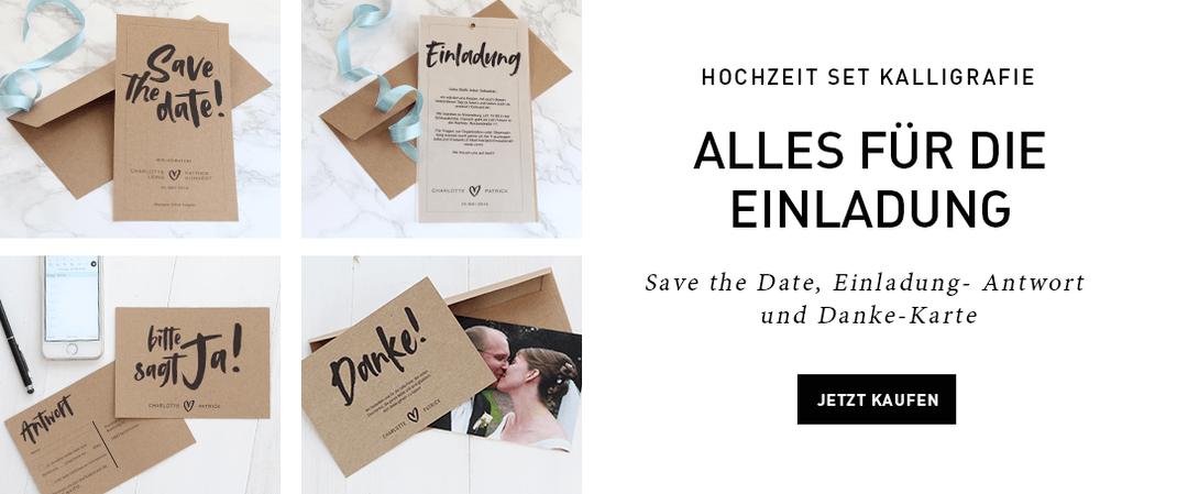 Save the date-, Einladungs-, Antwort und Dankekarte einfach selber personalisiert für die Hochzeit ausdrucken, download unter www.die-kleine-designerei.com