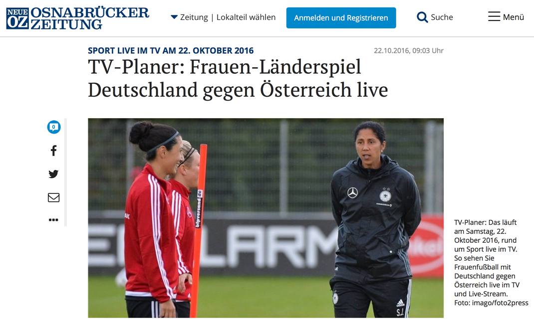 Osnabrücker Zeitung, 22.10.2016