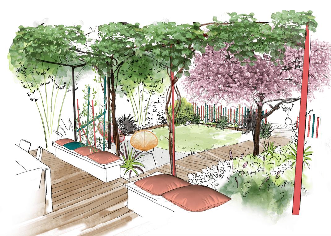 Conception d'un jardin privé à Marseille
