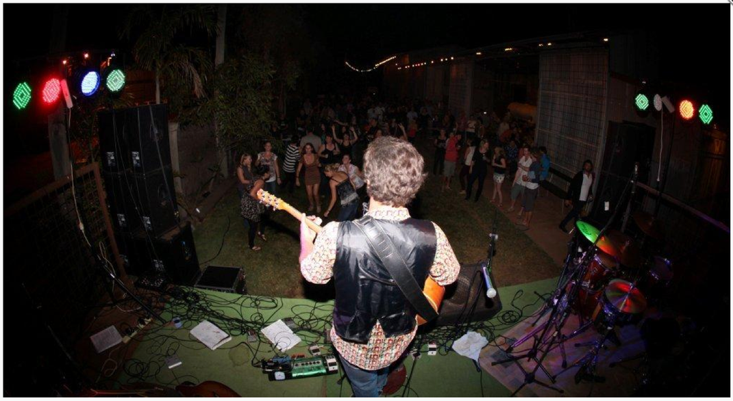 wazinator stompbox live on stage