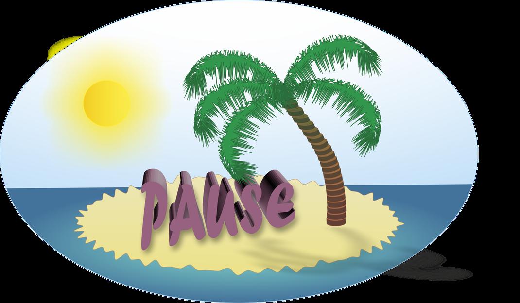 Mach mal Pause Sticker designed by VAJUS hergestellt von Jana
