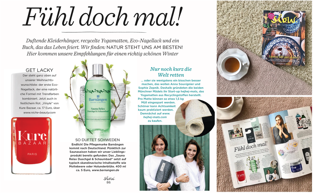 hejhej-mats got featured in the German Emotion Slow magazine.