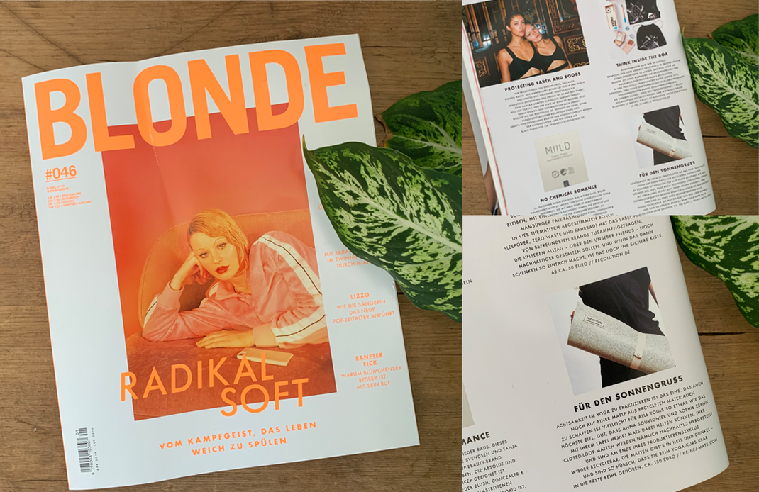Women for women: Our sustainable mats got feature in the BLONDE magazine.