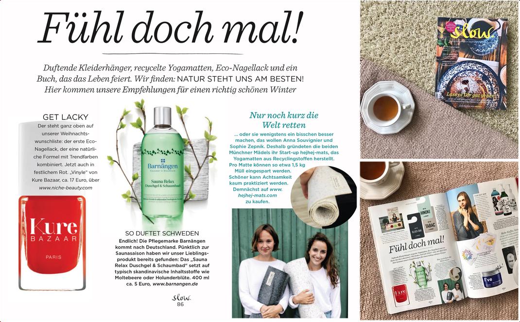 hejhej-mats in der Deutschen Emotion Slow Zeitschrift.