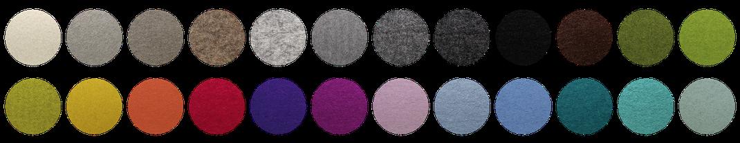 Sie sind sich ihrer Farbwahl noch nicht sicher? Wir bieten den kostenlosen Service bis zu FÜNF Farbmuster zu senden.
