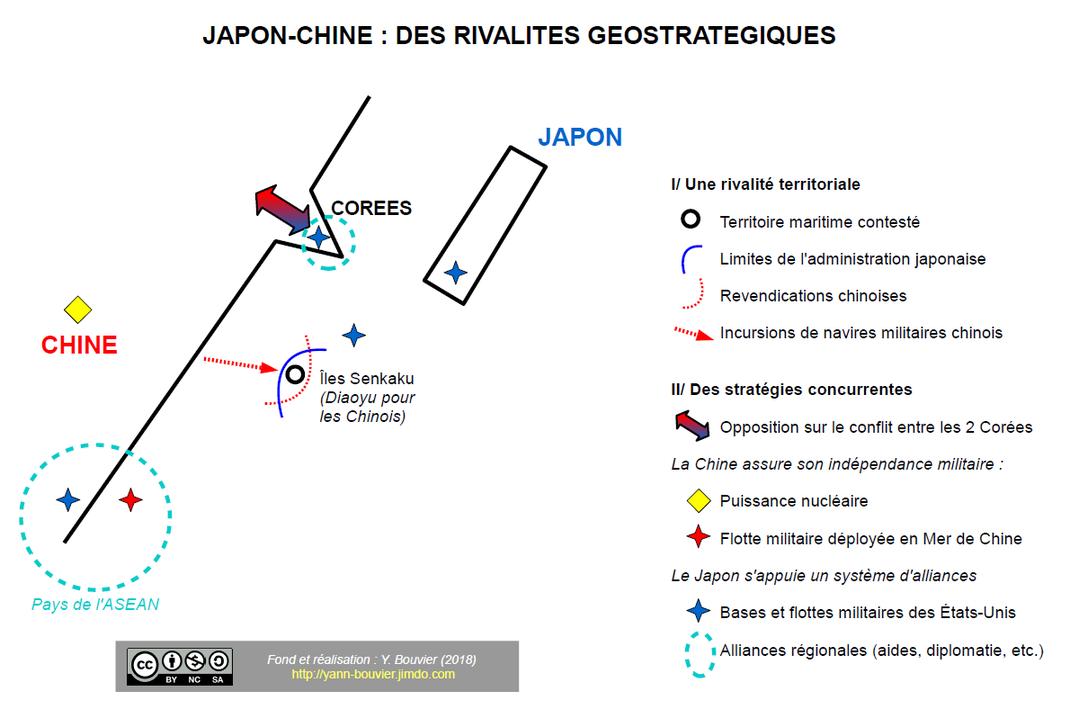Carte Chine Japon Bac Es.Schemas De Geographie Term Japon Chine Concurrences