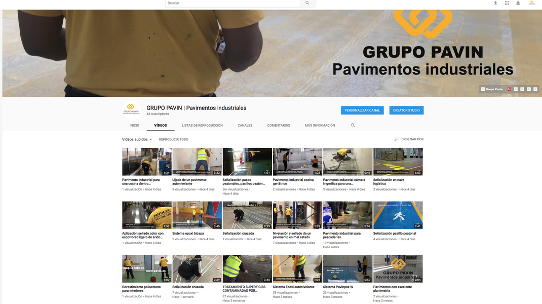 GRUPO PAVIN - Suelos y pavimentos industriales | Canal de YouTube