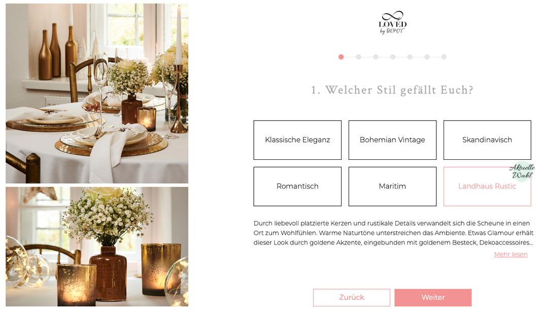 Finde Die Perfekte Tischdekoration Von Braut Zu Braut