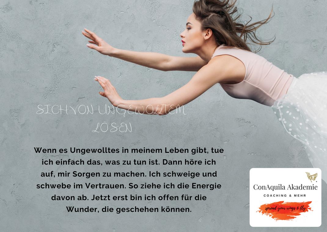 Sich von Ungewolltem lösen. Inspirationen, ConAquila, Martina M. Schuster. Coaching Akademie, Bildquelle: Canva Pro.