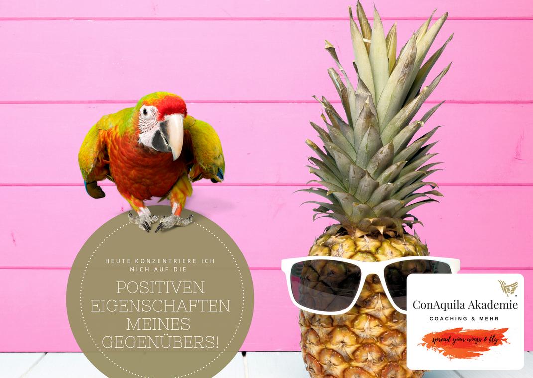 Positive Eigenschaften. Inspirationen, ConAquila, Martina M. Schuster. Coaching Akademie, Bildquelle: Canva Pro.