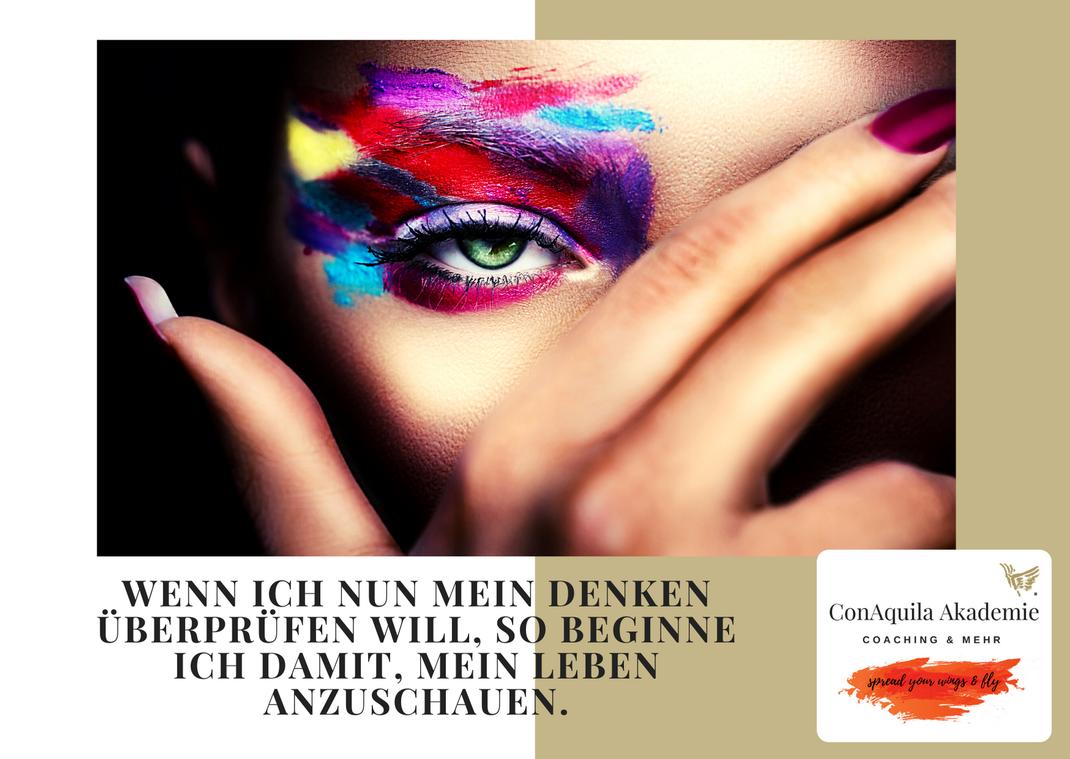 Denken überprüfen. Inspirationen, ConAquila, Martina M. Schuster. Coaching Akademie, Bildquelle: Canva Pro.