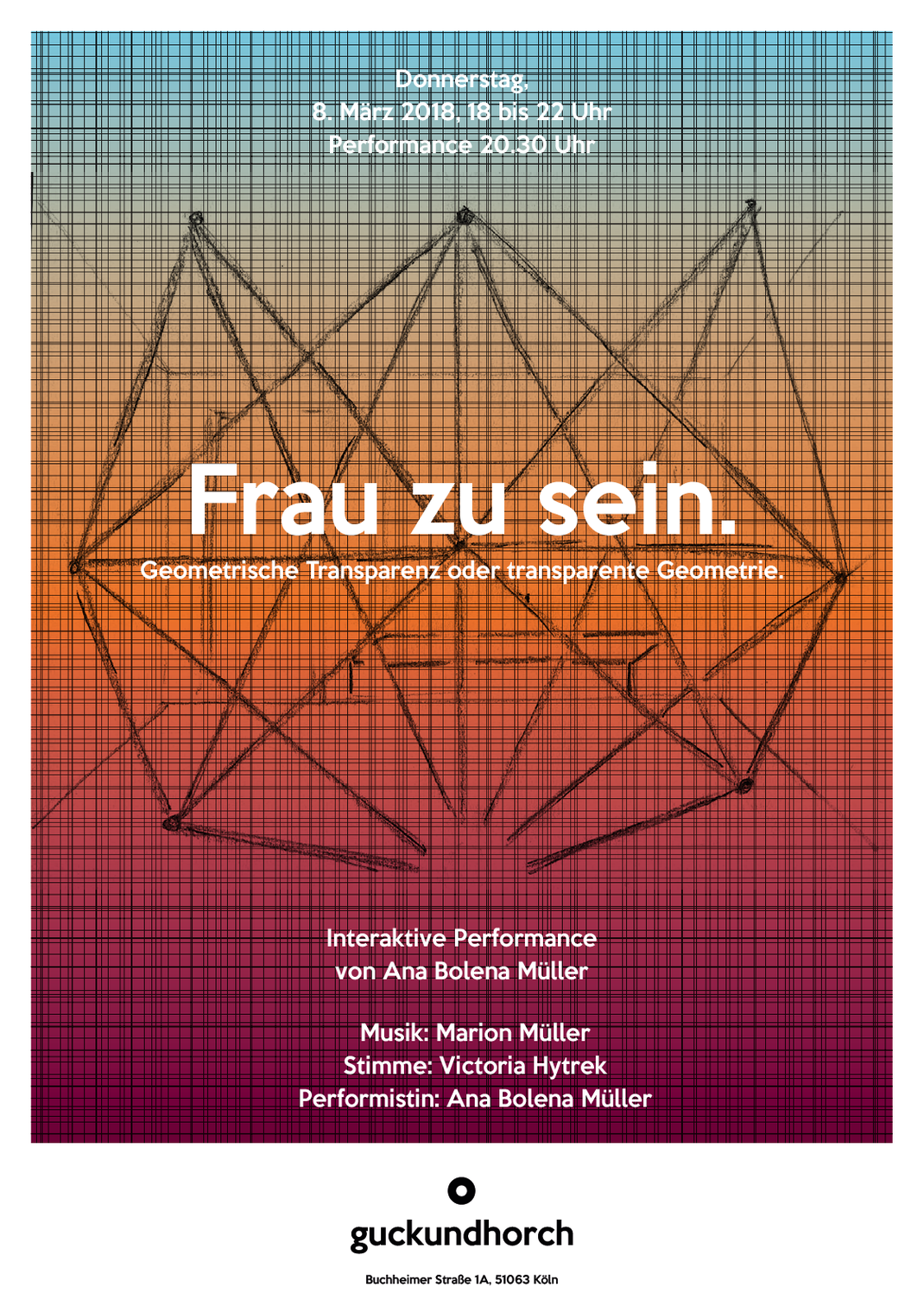 Einladung unter Verwendung einer Raum-Skizze von Ana Bolena Müller