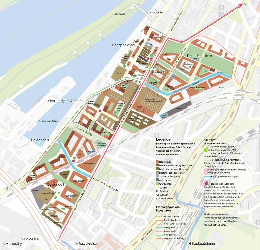 Mülheimer Süden. Plan www.icon-design.de