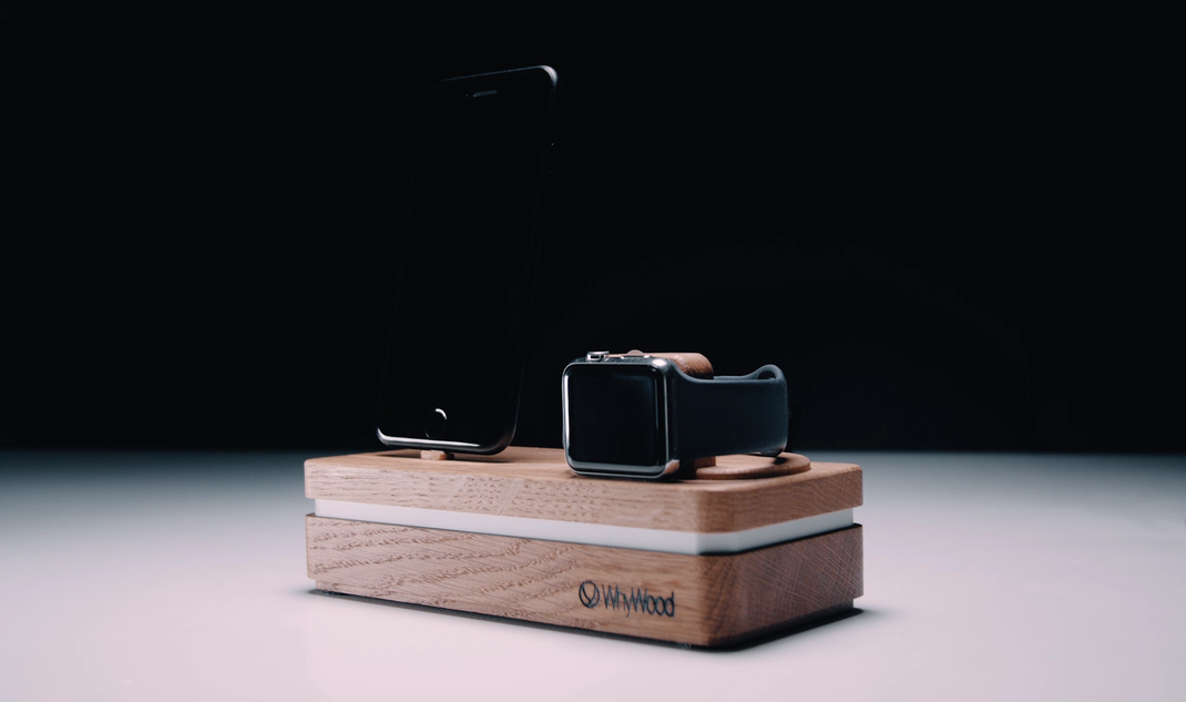 iPhonex iphonexs iphonexr Apple watch docking station holz eiche