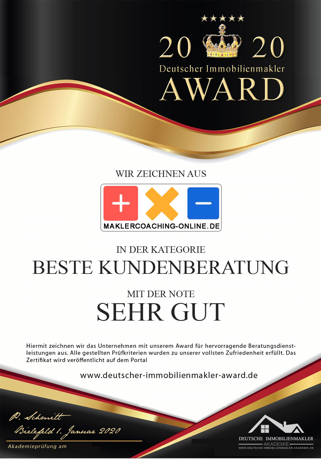 MAKLEREMPFEHLUNG ANDREAS HAUFS IMMOBILIEN HAMBURG MAKLER AWARD MAKLER AUSZEICHNUNG IMMOBILIENMAKLER AUSZEICHNUNG IMMOBILIENMAKLER AWARD MAKLER ZERTIFIKAT