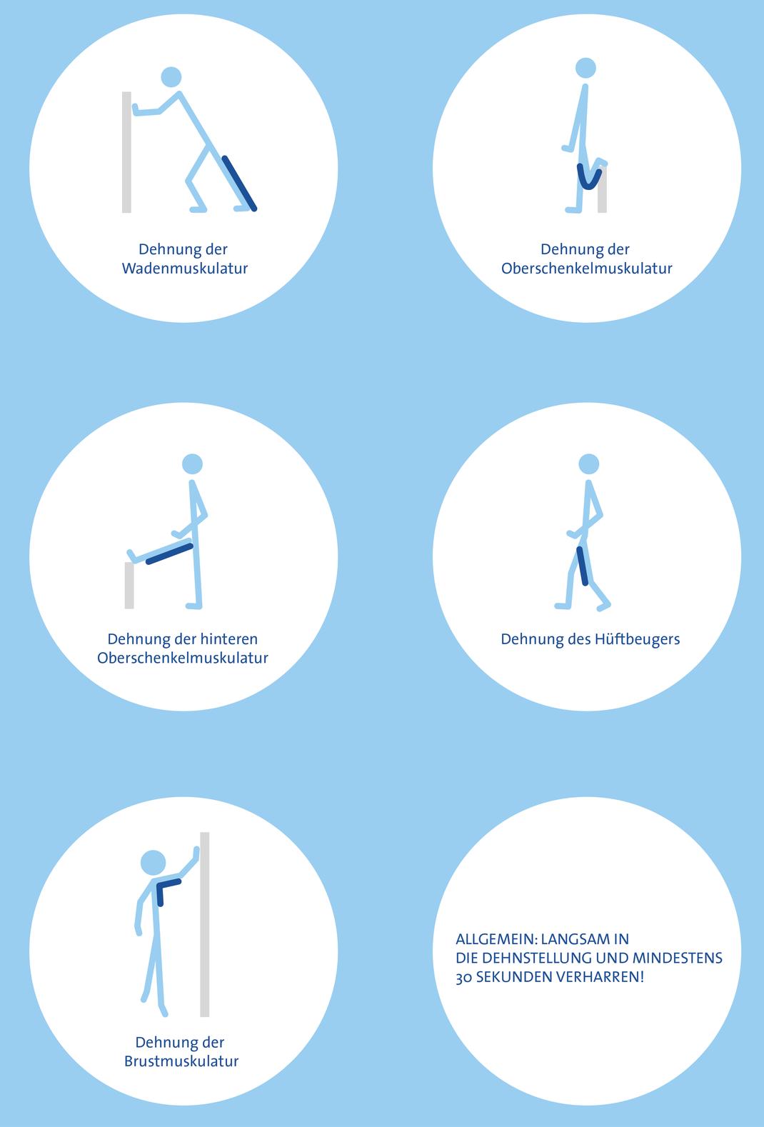 Dehnungsübungen nach dem Laufsport, Praxis Mäser Jagg, Physiotherapie in Bregenz