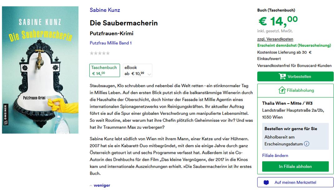(C) by Sabine Kunz und Gmeiner-Verlag.