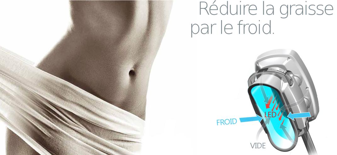 Traitement Cryolipolyse contre la cellulite et les bourrelets de grasse.