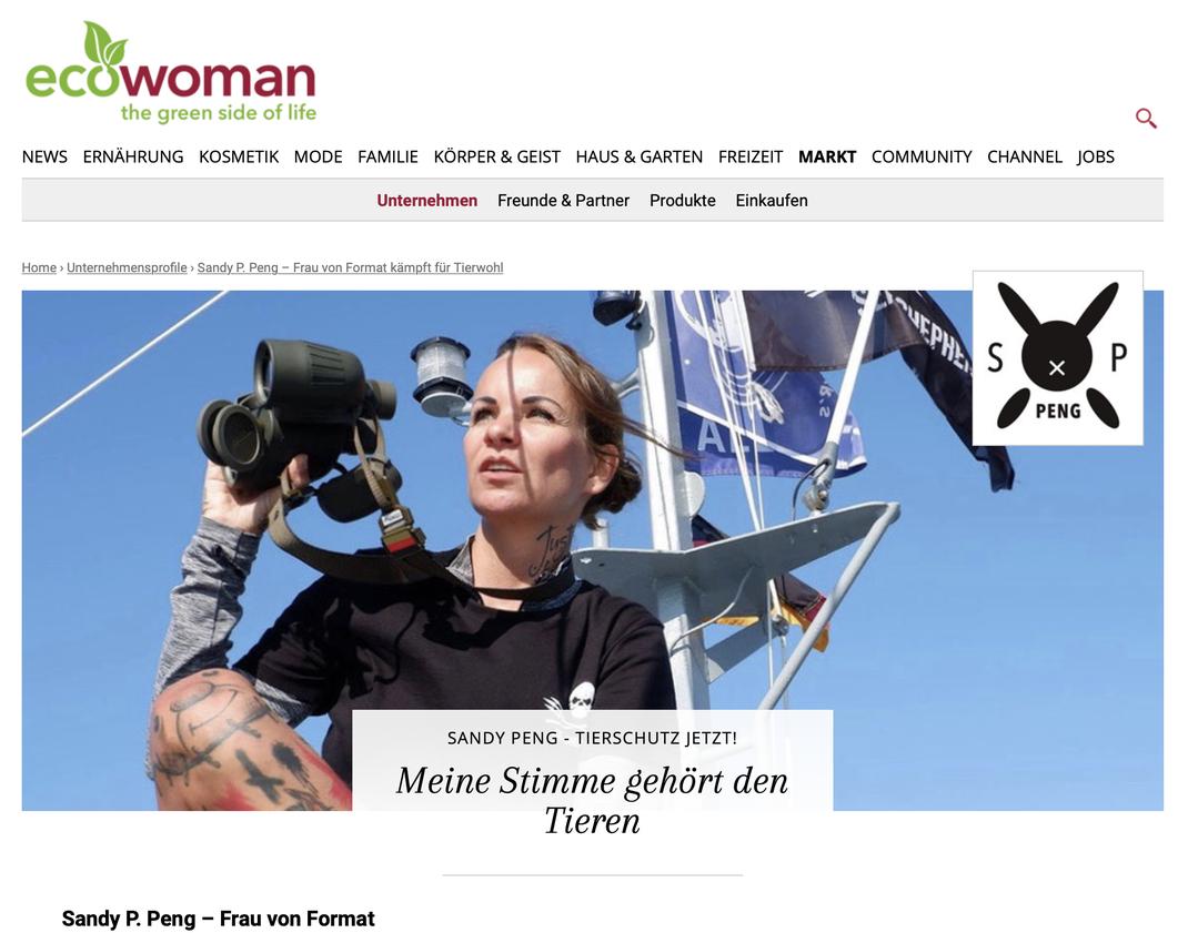www.ecowoman.de Sandy P.Peng Artikel