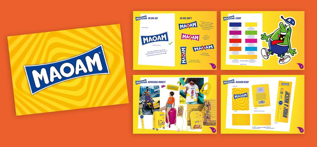 Maoam Styleguide  Produktdesign Packaging Design Design Richtlinien Farbwelt Produktsimulationen