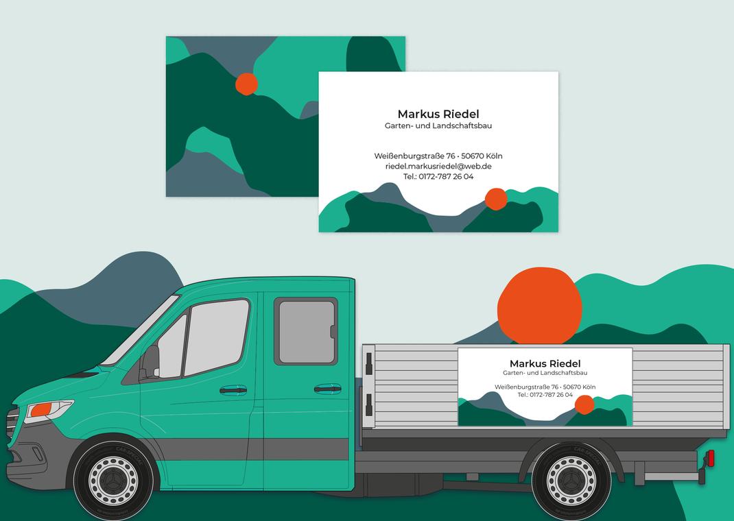 Corporate Design, Farbwelt, Visitenkartendesign