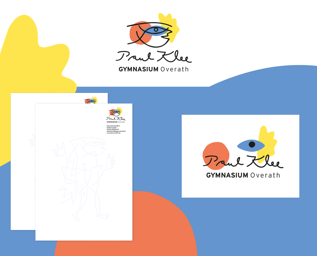 Paul Klee Gymnasium Overath, Paul Klee, Narr, Corporate Design, Logodesign, Logo, Briefpapier, Designagentur, Büro Petrol