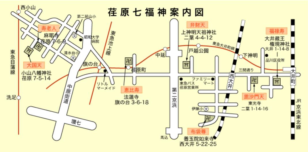 荏原七福神の案内図