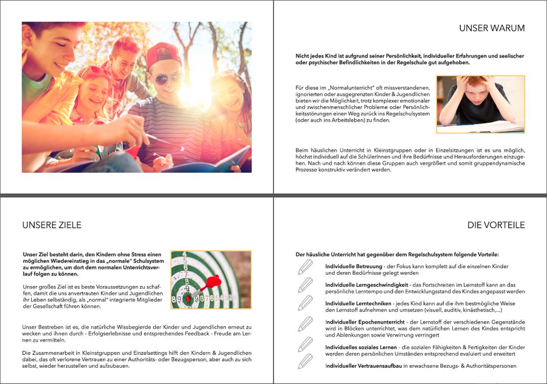 """Broschüre 'Lernen leicht gemacht"""", Auszug Inhalt, Kostistansky"""