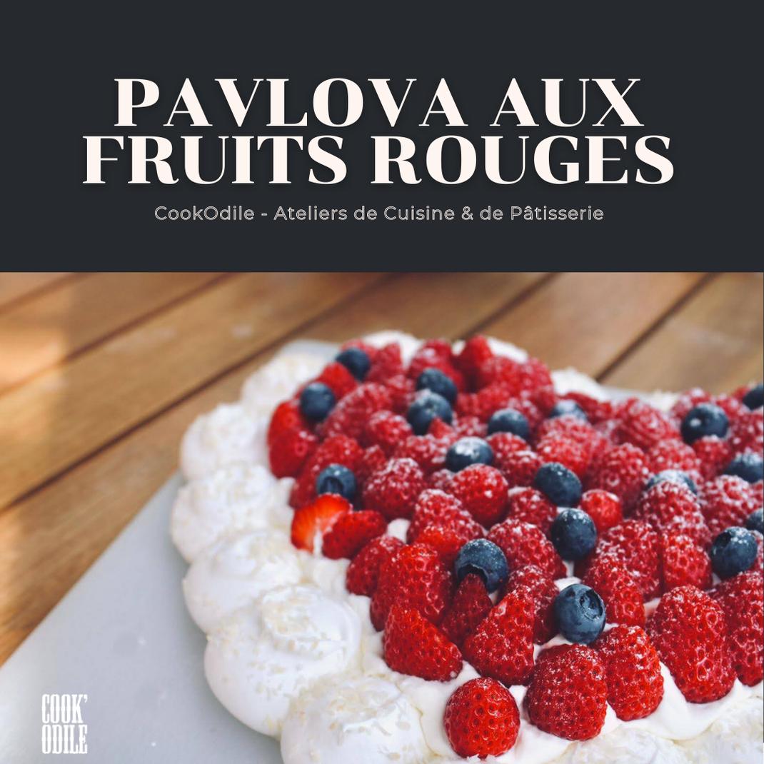 Pavlova Pâtisserie Atelier Fraise Framboises