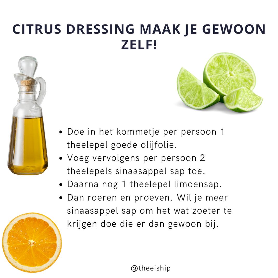 Makkelijk citrus dressing, deze maak je gewoon zelf! By Thee is Hip!