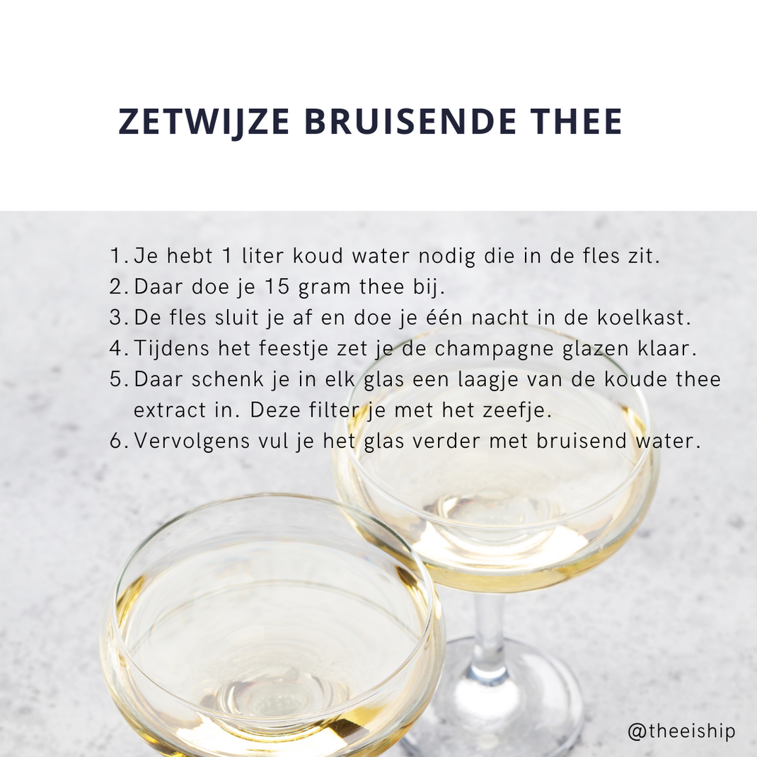 Zetwijze bruisende champagne thee. By Thee is Hip!