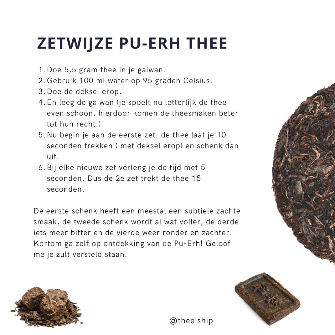 Zetwijze Pu-Erh thee. By Thee is Hip!