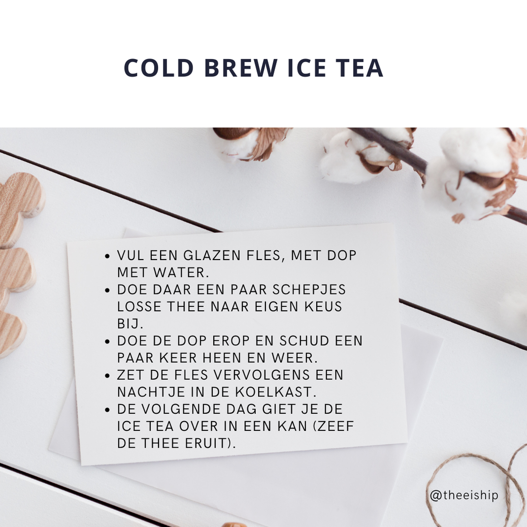 Cold brew ice tea recept. By Thee is Hip!