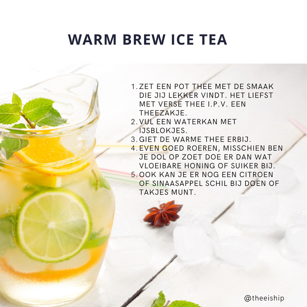 Ice tea recept by Thee is Hip!