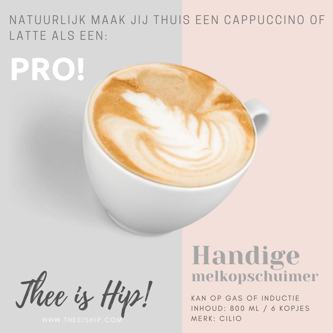 Maak jij thuis al een latte of een cappuccino als een pro? By Thee is Hip!