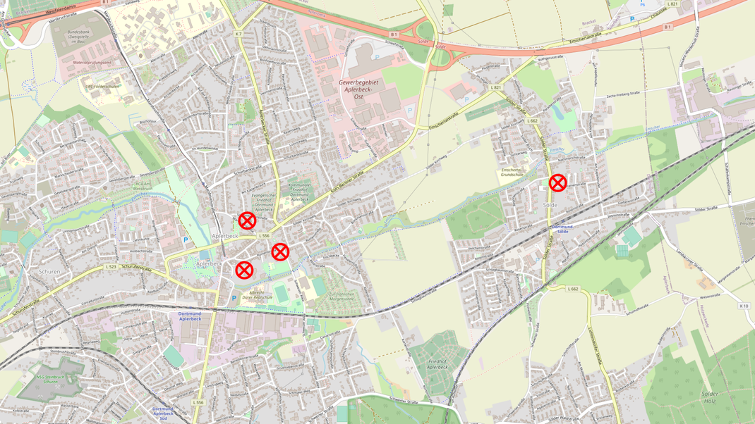 © OpenStreetMap-Mitwirkende - Kartografie ist gemäß CC BY-SA lizensiert (https://www.openstreetmap.org/copyright).