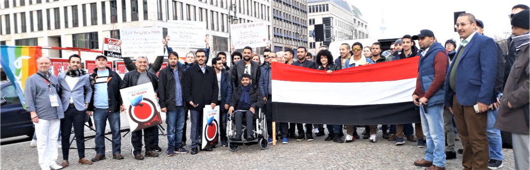 23.03.2019 - Berlin, Pariser Platz - Solidaritätskundgebung zum 4. Jahrestag Beginn der saudischen Aggression gegen den Jemen