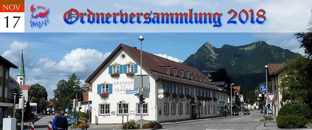 KVSF Klausenverein Sonthofen e.V. Ordnerversammlung 2018