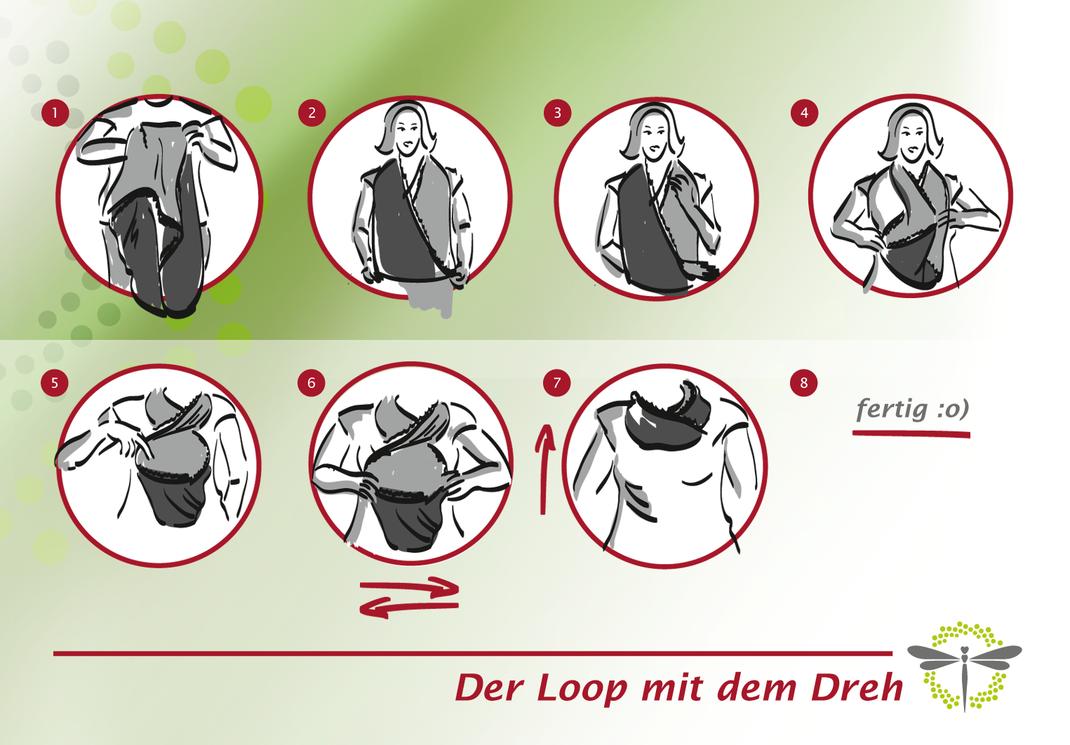 """Loopschal mit dem besonderen """"Dreh"""" - copyright (C)  www.loopparty.de"""