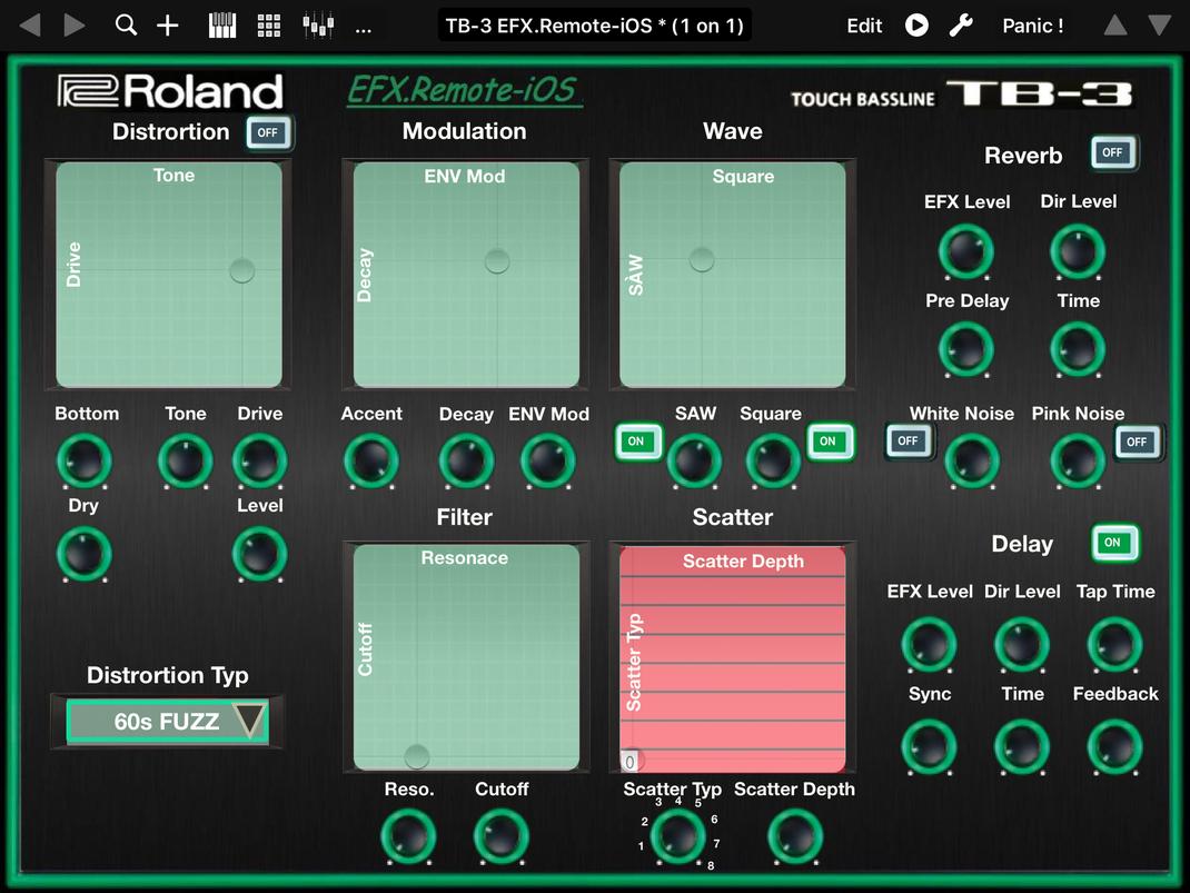 roland tb 3 ios midi editor ipad tb3remote ioss webseite