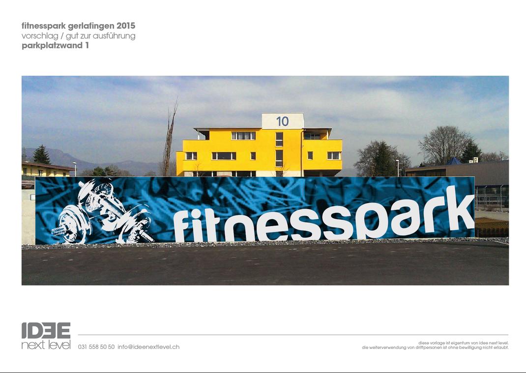 Wandgestaltung fitnesspark agentur f r wand for Raumgestaltung app