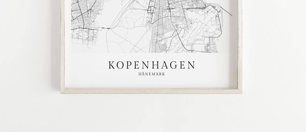 Kopenhagen Poster Karte Map