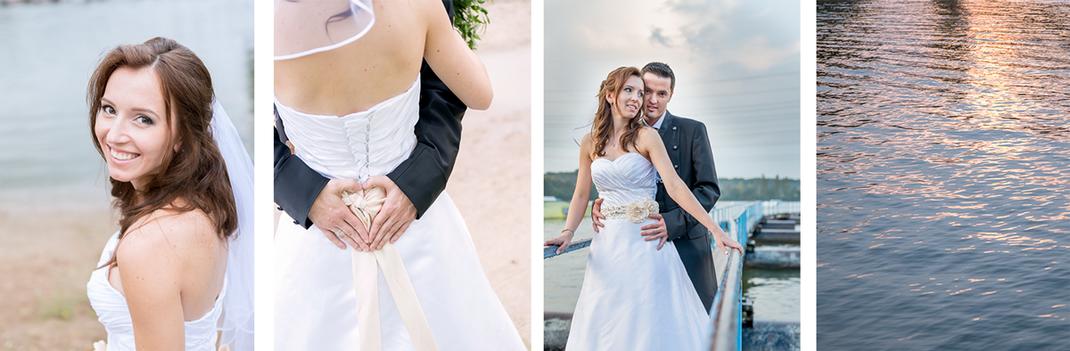 Hochzeitsfotos von Lynn Marie Zapp, Hochzeitsreportage, Feier in der Wasserskianlage in Langenfeld