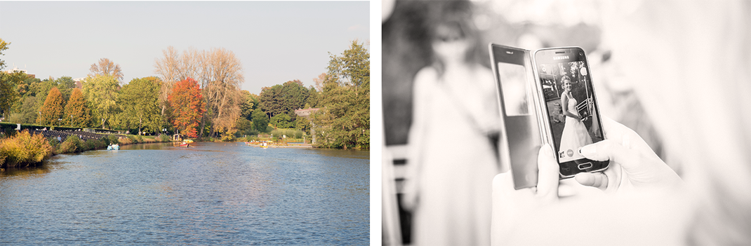 Hochzeitsfotos von Lynn Marie Zapp, Hochzeitsreportage, Feier, Seepavillon im Westfalenpark in Dortmund