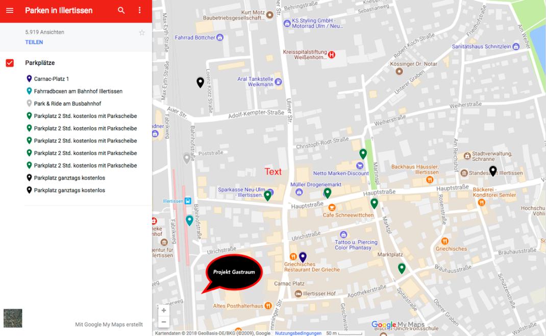 Parkplatz; Projekt Gastraum Illertissen; Parken in Illertissen