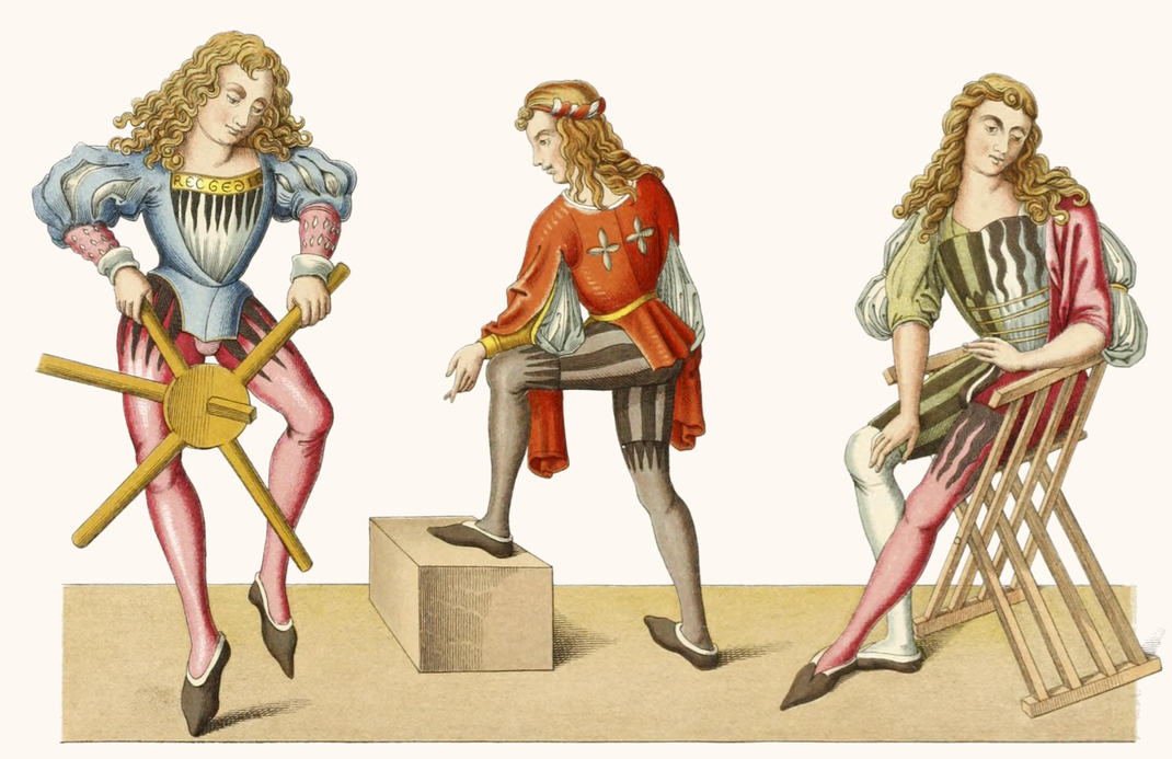 Trachten aus der zweiten Hälfte des 15. Jahrhunderts.