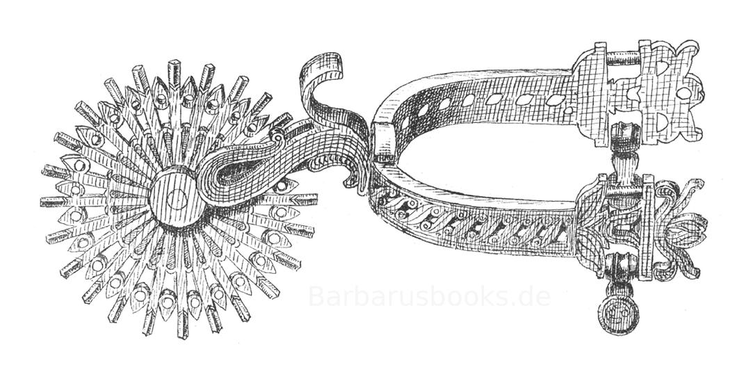 Europäischer Sporen des 18. Jahrhunderts