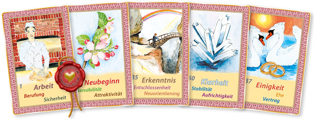 Kartenlegen lernen - oder Kartenlegen Lernen mit Mathera Orakelkarten