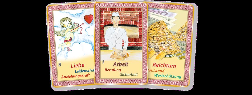 Kartenlegen lernen mit Orakelkarten von Mathera Orakelkarten